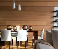 Sophisticated Dining Room Wooden Wall Artistic Interior Renders