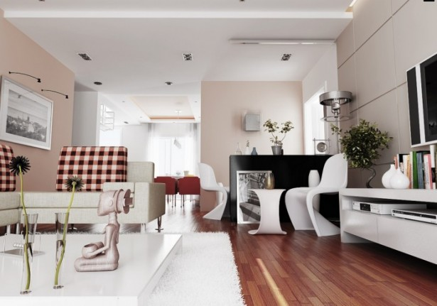 Sophisticated Pink Living Room Contemporary Living Rooms
