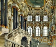 Stairway Grand Opulent Russian Palace Ornate Opulence
