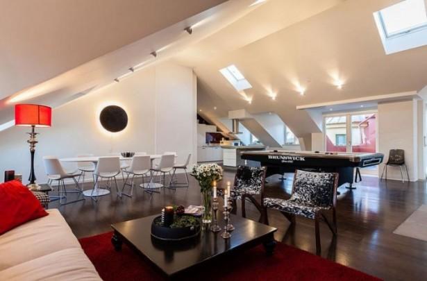 Stockholm Loft Stunning Modern Stockholm Apartment Red Rug