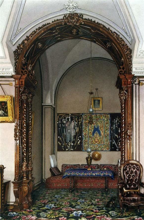 Study Alcove Russian Ornate Palace Patterns Ornate Opulence