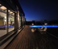 Stunning Modern Family Exterior Modern Swimming Pool Wooden Deck Pool