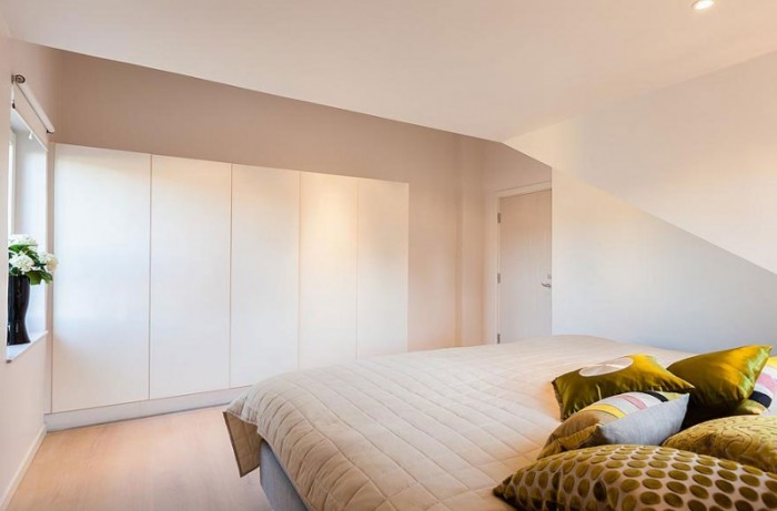 Swedish City Bedroom White Cupboard Stunning Modern Stockholm Apartment