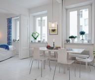 Swedish Dinging Room  White Heirloom Apartment Unique Lamp