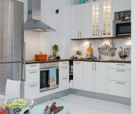 Swedish Kitchen Decor  White Heirloom Apartment White Floor