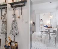 Swedish Modern Decor  White Heirloom Apartment Unique Lamp