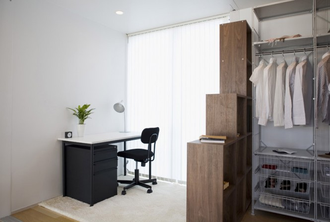 Table Work Open Fronted Wardrobes Home Office Minimalist Japanese Prefab
