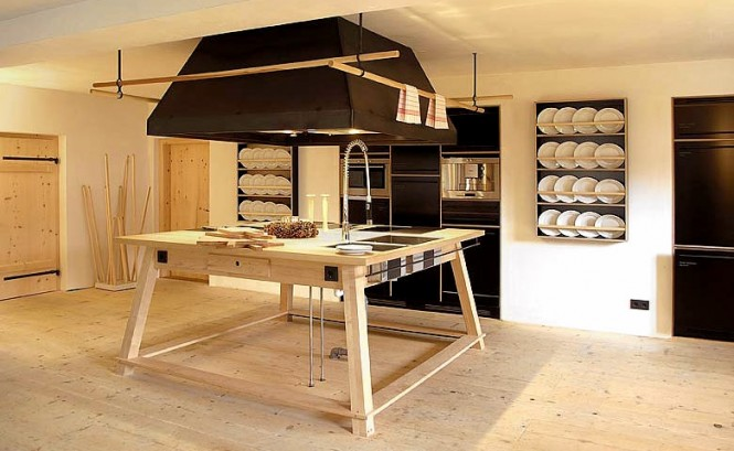 The Berge Winter Retreat For Simple Kitchen Island