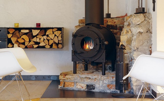 The Berge Winter Retreat Wood Burning Stove Unique