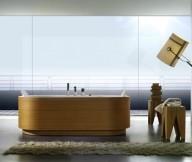 Timber Finish Bathtub Beautiful Bathtubs Design