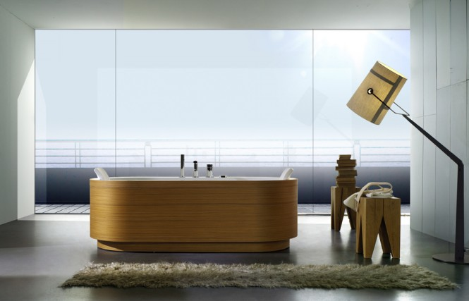 Timber Finish Bathtub Beautiful Bathtubs Design