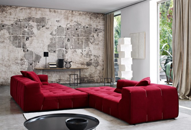 Unique Wall Red Chaise Lounge Modern Sofa Ideas