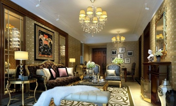 Wallpaper Living Room Eclectic Neutral Tones Modern Living Rooms