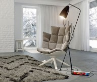 Warmth In Subtle Tones Contemporary Chair Unique Standing Lamp