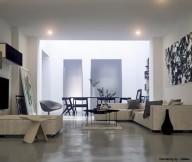 Warmth In Subtle Tones Cream L Shaped Sofa Unique Mural Wall