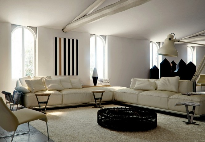 Warmth In Subtle Tones Cream Sectional Sofa Creame Sofas