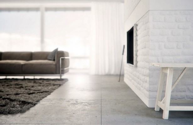 Warmth In Subtle Tones Neutral Living Room White Fireplace