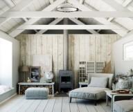Warmth In Subtle Tones Rustic Lounge Grey Sofa