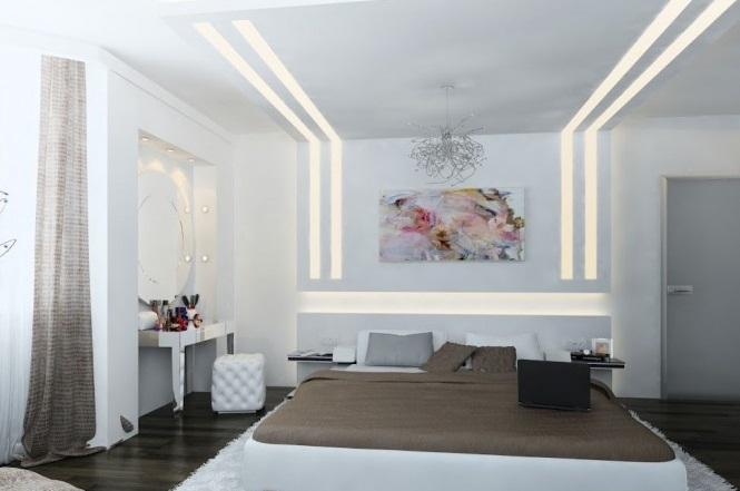 White Brown Contemporary Bedroom Creative Home Design
