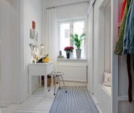 White Heirloom Apartment Home Office Niche White Wooden Floor