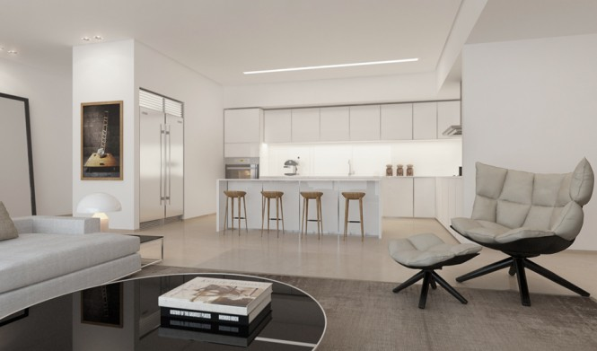 White Kitchen Lounge Ando Studio Designs Round Table
