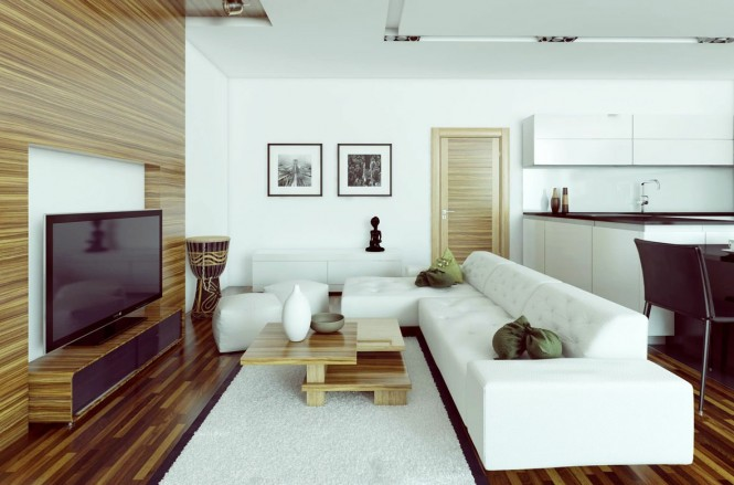 White L Shaped Sofa Modern Living Rooms White Rug