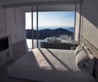 White Large Bedroom Glass Sliding Door Modern Hotel Encanto