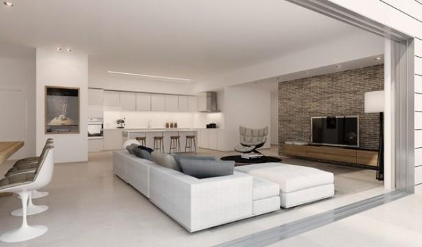 White Living Room Diner Ando Studio Designs White Floor
