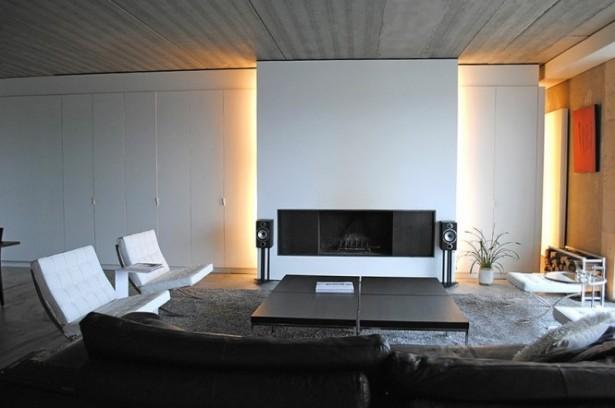 White Living Room Grey Rug Modern Living Rooms
