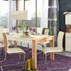 White Modern Dining Furniture Purple Rug Modern Dining Rooms