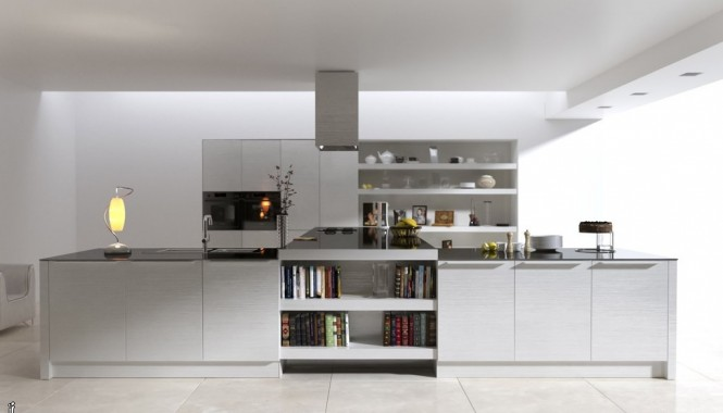 White Modern Kitchens IdeasT Shaped Kitchen Island
