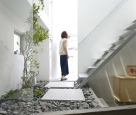 White Stairs Interior Courtyard Steps Courtyards Design Ideas