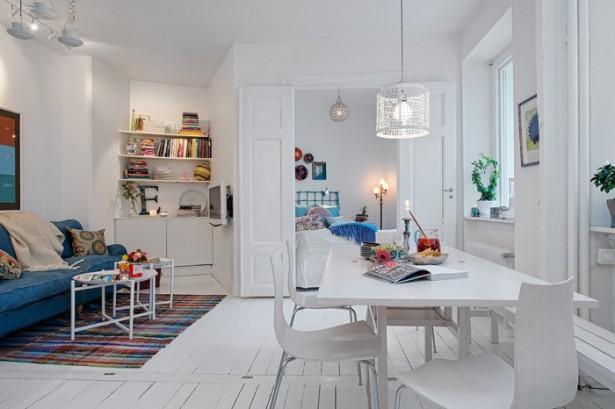 White Swedish Decor  White Heirloom Apartment