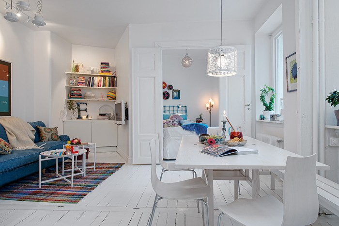 White Swedish Decor  White Heirloom Apartment