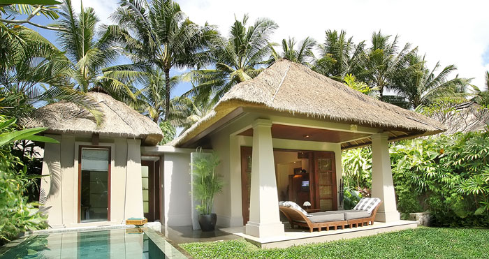 White Villa Green Lawn Beautiful Tropical Paradise Ideas