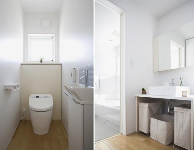 White Wall Modern Toilet Minimalist Japanese Prefab