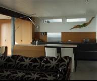 Wood Backsplash Modern Kitchen