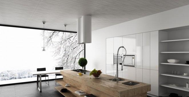 Wood Block Kitchen Island Modern Kitchens Ideas