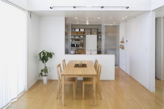Wooden Floor Minimalist Japanese Prefab Minimalistic Dining Room