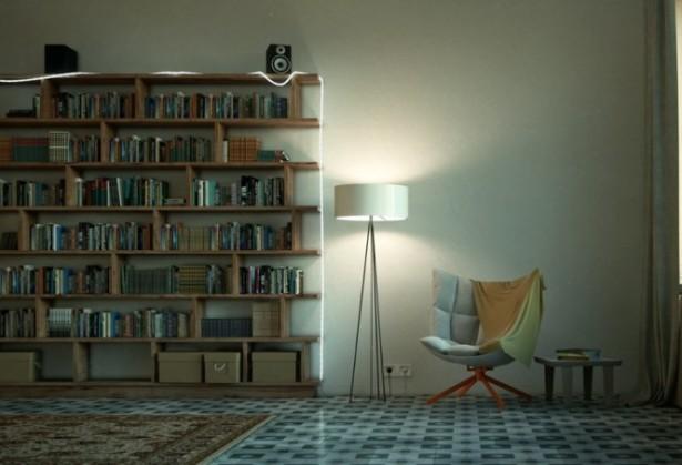 Wooden  Pine Bookshelves Reading Spaces Design