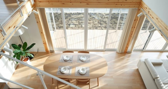 Wooden Table Minimalist Decor Japanese Style Interior Design