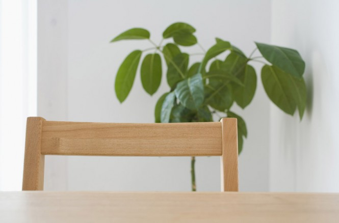 Wooden Table Pine Dining Chair Minimalist Japanese Prefab