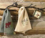 log cabin bathroom accessories sets
