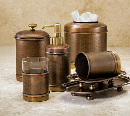 Antique Brass Bathroom Accessories Sets 1