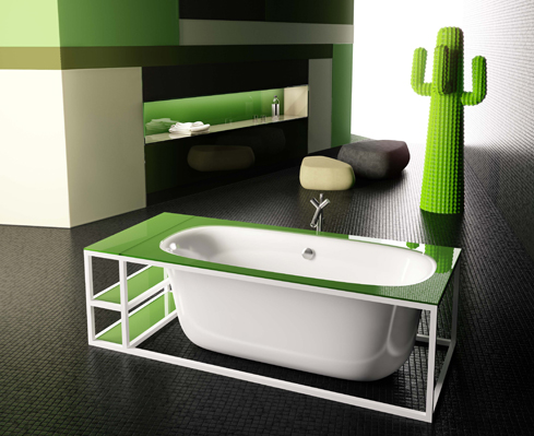 Green glass bathroom accessories for your home for Green glass bath accessories