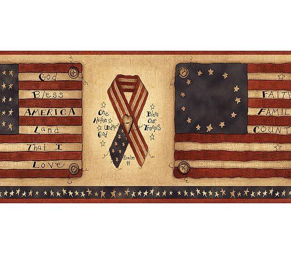 Americana wallpaper design