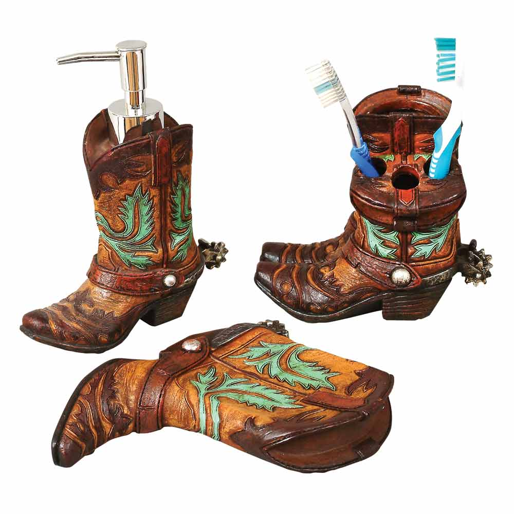 Cowboy Boot Bathroom Decor