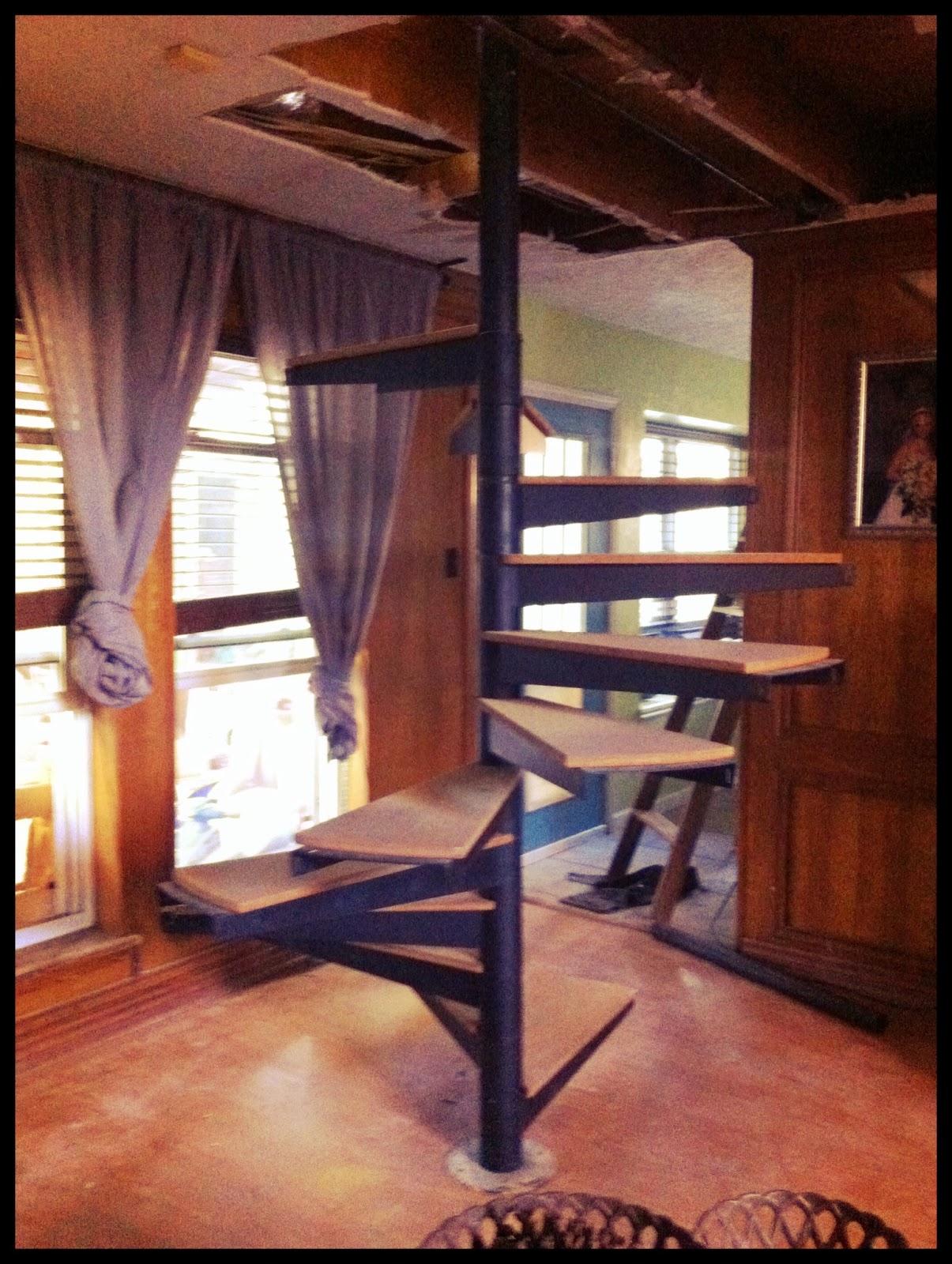 DIY home spiral staircase