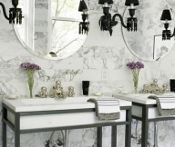 French Paris bathroom interior