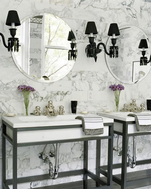 French Paris bathroom interior